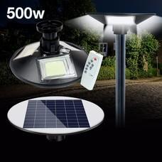 Telecorsa โคมไฟโซล่าเซล พลังงานแสงอาทิตย์ UFO Square Light LED500W รุ่น UFO-Street-circle-500W-3-in-1-solar-sensor-00H-Song