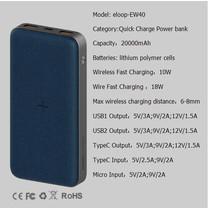 Eloop Powerbank รุ่น EW40 20000 mAh สีฟ้า / Blue แถมซอง สายชาร์จ สินค้าส่งฟรี!