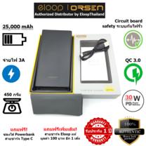 Eloop Powerbank รุ่น E43 25000 mAh สีดำ / Black แถมซอง สายชาร์จ สินค้าส่งฟรี!