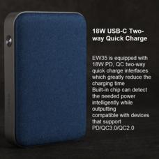 Eloop Powerbank รุ่น E33 10000 mAh สีฟ้า / Blue แถมซอง สายชาร์จ สินค้าส่งฟรี!