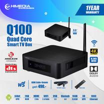 กล่องแอนดรอยด์ทีวี Himedia Q100 HDR 4K Player Android 7 Smart Tv Box รองรับภาษาไทย ใส่HDDได้ DDR4 เล่นไฟล์ได้ครบ แรง เสถียร รองรับ WIFI 5G LAN สินค้าประกัน 1ปี