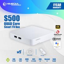 กล่องแอนดรอยด์ทีวี Himedia S500 4K HDR Android 9 (มีใบอนุญาต) รองรับภาษาไทย Android TV Box สินค้าประกัน 1 ปี เล่น IPTV สบายๆ พร้อม Youtube 4K กล่องทีวี Android Box
