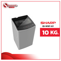 เครื่องซักผ้าฝาบน Sharp รุ่น ES-W10T-GY ขนาด 10 Kg. ( รับประกันสินค้านาน 10 ปี )