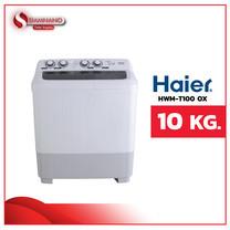 เครื่องซักผ้า 2 ถัง HAIER รุ่น HWM-T100 OX ขนาด 10Kg. (รับประกันสินค้านาน 12 ปี)