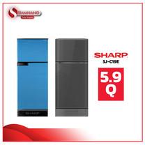 ตู้เย็น 2 ประตู Sharp รุ่น SJ-C19E ความจุ 5.9 คิว มีสองสี ( รับประกัน 10 ปี )