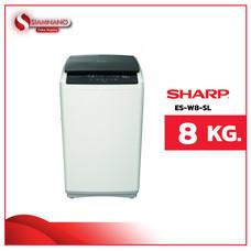 เครื่องซักผ้าฝาบน Sharp รุ่น ES-W8-SL ขนาด 8 Kg. ( รับประกันสินค้านาน 10 ปี )