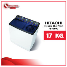 เครื่องซักผ้า 2 ถัง Hitachi ขนาด 17 kg รุ่น PS-170WJ (รับประกันนาน 10 ปี)