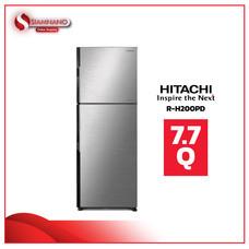 ตู้เย็น 2 ประตู HITACHI รุ่น R-H200PD 7.7Q สี BSL/BBK ( รับประกันนาน 10 ปี )