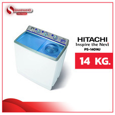 เครื่องซักผ้า 2 ถัง Hitachi ขนาด 14 kg รุ่น PS-140WJ (รับประกันนาน 10 ปี)
