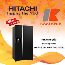 HITACHI SIDE BY SIDE ตู้เย็น รุ่น R-SX600GPTHO(GBK) ขนาด 20.2 คิว