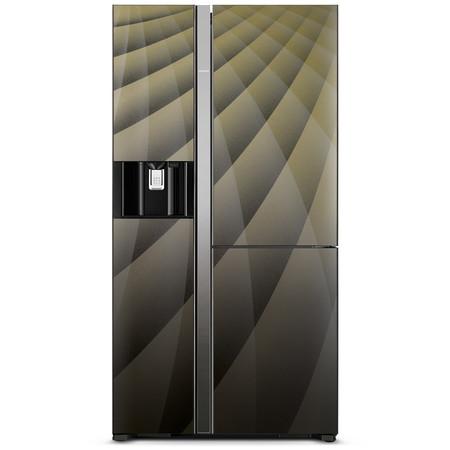Hitachi ตู้เย็น SIDE BY SIDE รุ่น R-M600AGP4THX ขนาด 21.1 คิว Inverter Dual Fan Cooling