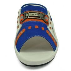 TAYWIN(แท้) รองเท้าแตะเทวินทร์ ผู้ชาย รุ่น SKF-12 หนังกลับสีน้ำเงินสด-หนังสีส้ม-หนังปั่นนิ่มขาว