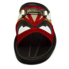 [แท้]TAYWIN รองเท้าแตะเทวินทร์ผู้ชาย รุ่น SKF-29 หนังกลับสีแดง-ปั่นนิ่มสีขาว-นิ่มสีดำสลับ