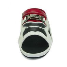 TAYWIN(แท้) รองเท้าแตะเทวินทร์ ผู้ชาย รุ่น SKF-25 หนังนิ่มสีขาว-นิ่มสีดำ-กลับสีแดง-นิ่มสีแดง