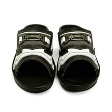 TAYWIN แท้ รองเท้าแตะเทวินทร์ ผู้ชาย รุ่น SKF-27 หนังปั่นนิ่มสีดำ-ปั่นนิ่มสีขาว-กลับเทาสีอ่อน