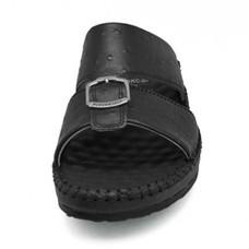 [แท้] TAYWIN รองเท้าแตะเทวินทร์ ผู้ชาย รุ่น SKC-05 หนังปั๊มลายนอกกระจอกเทศสีดำ