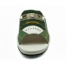 TAYWIN(แท้) รองเท้าแตะเทวินทร์ ผู้ชาย รุ่น SKF-94 หนังนิ่มขี้ม้า/ขาว/กลับเขียว