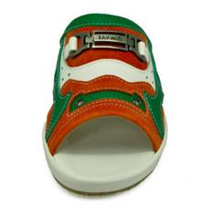TAYWIN(แท้) รองเท้าแตะเทวินทร์ ผู้ชาย รุ่น SKF-30 หนังกลับส้ม-นิ่มเขียวอ่อน-นิ่มขาว