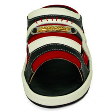 TAYWIN(แท้) รองเท้าแตะเทวินทร์ รุ่น SKF-33 หนังปั่นนิ่มสีดำ-กลับสีแดง-นิ่มสีขาว