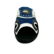 TAYWIN(แท้) รองเท้าแตะเทวินทร์หนังแท้ ผู้ชาย รุ่น SKF-22 หนังนิ่มสีขาว-หนังกลับสีน้ำเงิน-นิ่มสีดำ