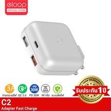 [ประกัน 1 ปี] Eloop C2 หัวชาร์จเร็ว QC3.0 | PD 20W Adapter USB Fast Charger 30W Max ชาร์จเร็ว iPhone 12