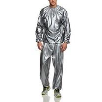 ชุดซาวน่า Sauna suit silver ชุดออกกำลังกาย รีดเหงื่อ สีเงิน