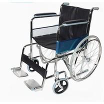 รถเข็นผู้ป่วย รถเข็นผู้สูงอายุ รถเข็นคนชรา รถเข็นผู้พิการ Wheelchair วิลแชร์ เหล็กชุบโครเมียม แบบพับได้ รุ่น809