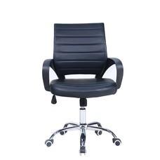 เก้าอี้สำนักงาน เบาะหนัง ปรับระดับ มีล้อ เบาะหนัง เก้าอี้ออฟฟิศ เก้าอี้ทำงาน CH0008