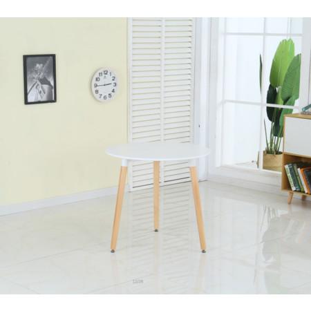 โต๊ะทำงาน โต๊ะทานข้าว ทรงกลม ท็อปไม้ MDF ปิดผิวเมลามีน สีขาว ขนาด 60*60 cm