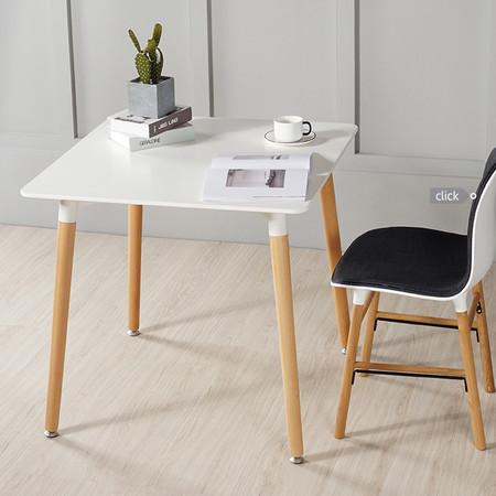 โต๊ะทำงาน โต๊ะทานข้าว ท็อปไม้ MDF ปิดผิวเมลามีน ทรงสี่เหลี่ยม สีขาว ขนาด 60*60 cm