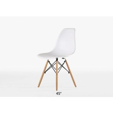 TS Modern Living เก้าอี้พลาสติก พนักพิงกลางหลัง ทรงโมเดิร์น รุ่น CH0007WH