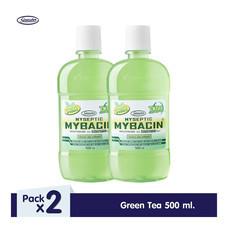 มายบาซิน น้ำยาบ้วนปาก สูตรกรีนที 500 มล. MyBacin Mouthwash Green Tea 500ml (แพ็ก 2 ขวด)