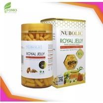 Nubolic Royal Jelly 1500 mg. 6% นูโบลิก รอยัล เจลลี่ [365 แคปซูล - กระปุกใหญ่] อาหารเสริมสำหรับร่างกาย