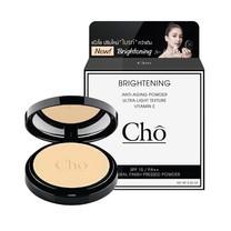 """แป้ง โช ไบรท์ Cho Brightening Anti Aging Powder - สูตรปรับใหม่ """"ไบรท์"""" กว่าเดิม #สีM3"""