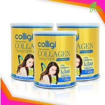[Exp2022] Amado Colligi Collagen TriPeptide + Vitamin C คอลลิจิ คอลลาเจน [3 กระป๋อง] อาหารเสริมสำหรับผิว