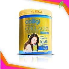 Exp2022 [กระปุกใหญ่] Amado Colligi Collagen TriPeptide + Vitamin C คอลลิจิ [201 g.] คอลลาเจนผงผสมวิตามินซี