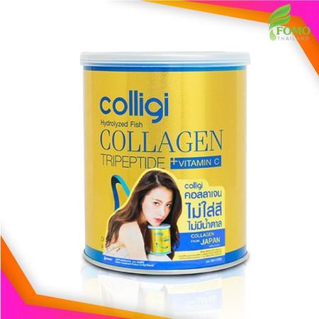 [Exp2022] Amado Colligi Collagen TriPeptide + Vitamin C คอลลิจิ คอลลาเจน [110.66 g.] อาหารเสริมสำหรับผิว