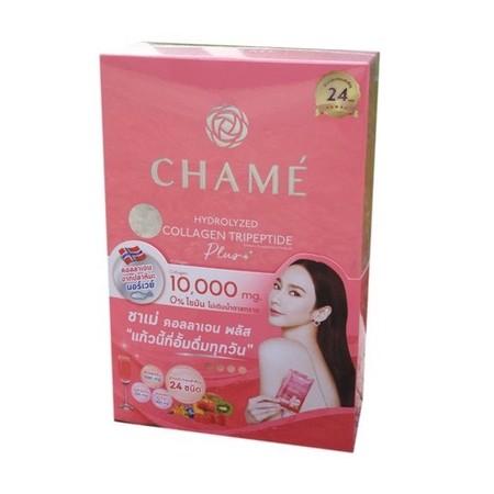 อั้ม! Chame Collagen Plus 10,000 mg. ชาเม่ คอลลาเจน พลัส [10 ซอง - กล่องเล็ก] อาหารเสริมคอลลาเจนสำหรับผิว