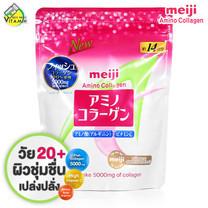 Meiji Amino Collagen Refill Pack เมจิ คอลลาเจน [98 g.] ชนิดถุงเติม