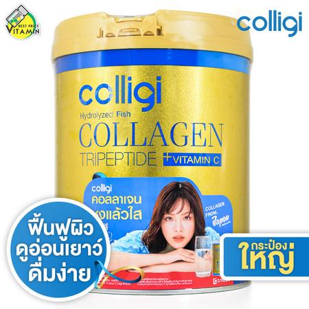 [กระปุกใหญ่] Amado Colligi Collagen TriPeptide + Vitamin C คอลลิจิ คอลลาเจน [201 g.]
