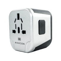 MAXCON Universal Adapter 2USB ยูนิเวอร์แซลอแดปเตอร์ แบบ USB 2 พอร์ต รุ่น JY-303B Silverlight