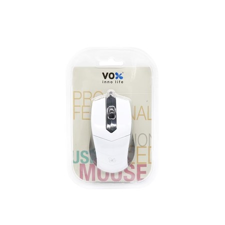 VOX Optical Mouse เม้าส์สาย รุ่น M10 สีขาว