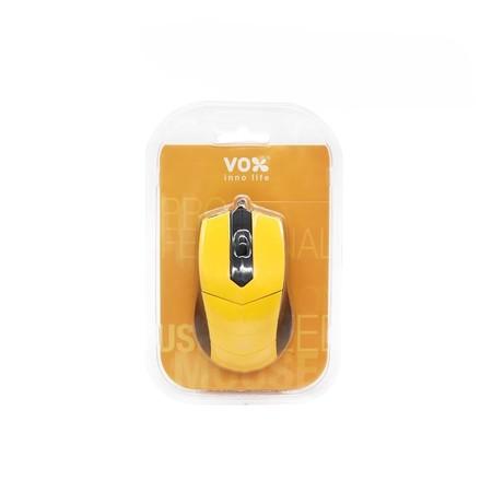 VOX Optical Mouse เม้าส์สาย รุ่น M10 สีส้ม