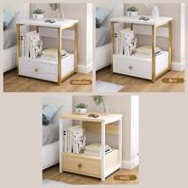 โต๊ะข้างเตียง ตู้ข้างเตียง ชั้นวางของข้างเตียง โต๊ะอเนกประสงค์ เฟอร์นิเจอร์ห้องนอน 1 ชั้น แบบ 1 ลิ้นชัก