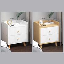 โต๊ะข้างเตียง ตู้ข้างเตียง ชั้นวางของข้างเตียง โต๊ะอเนกประสงค์ เฟอร์นิเจอร์ห้องนอน มีลิ้นชัก 2 ชั้น