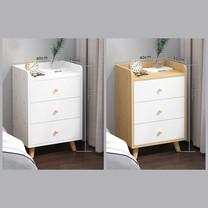 โต๊ะข้างเตียง ตู้ข้างเตียง ชั้นวางของข้างเตียง โต๊ะอเนกประสงค์ เฟอร์นิเจอร์ห้องนอน มีลิ้นชัก 3 ชั้น