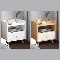 โต๊ะข้างเตียง ตู้ข้างเตียง ชั้นวางของข้างเตียง โต๊ะอเนกประสงค์ เฟอร์นิเจอร์ห้องนอน มีลิ้นชัก 1 ชั้น