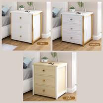 โต๊ะข้างเตียง ตู้ข้างเตียง ชั้นวางของข้างเตียง โต๊ะอเนกประสงค์ เฟอร์นิเจอร์ห้องนอน 3 ชั้น แบบ 3 ลิ้นชัก