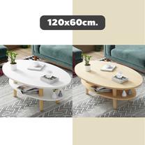 โต๊ะวางของ 2 ชั้น ขนาด 120 x 60 ซม. โต๊ะกลาง โต๊ะห้องนั่งเล่น มินิมอล เฟอร์นิเจอร์แต่งบ้าน