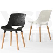 เก้าอี้ เก้าอี้พลาสติกสไตล์โมเดิร์น เก้าอี้เนกประสงค์ เก้าอี้ห้องอาหาร เก้าอี้ร้านกาแฟ ขาไม้ สไตล์โมเดิร์น